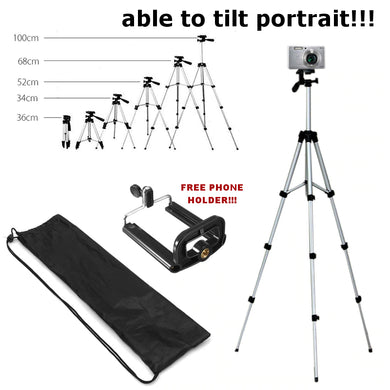 Phone / Camera Lightweight Portrait / Landscape Portable Tripod Stand