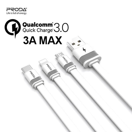 3A Fast Charging Proda Fenche Cable PD-B17