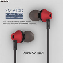 Remax RM-610D HIFI SOUND Earphone