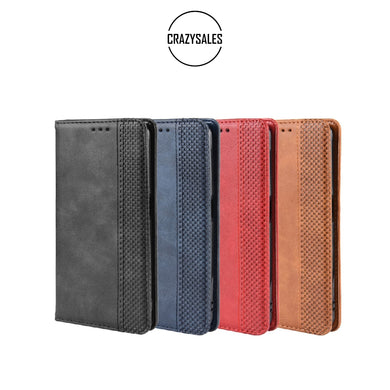 RETRO Style Leather Wallet Case for OPPO Reno