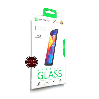 AMAZINGthing Clear Tempered Glass Protector for ROG Phone 2