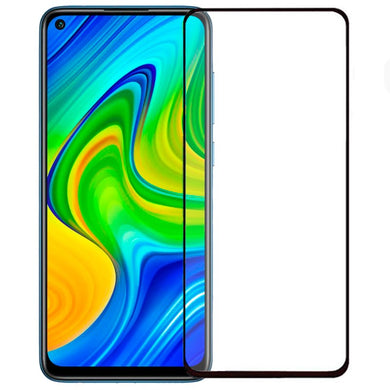 9H Full Coverage Clear Tempered Glass (Black Border) for Xiaomi Redmi Note 9
