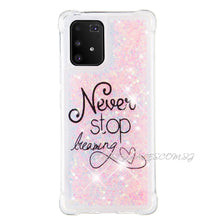 Never Stop Dreaming Clear Protection Case for Galaxy S10 Lite