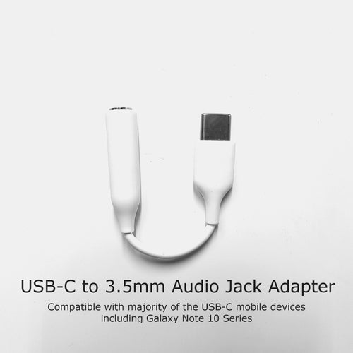 USB-C to Audio 3.5mm Jack Adapter (Compatible with all Note 10 Series)