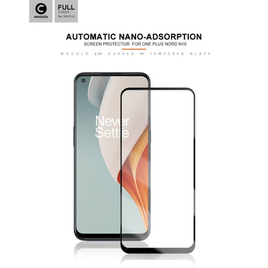 MOCOLO Full Glue Full Cover Silk Printing Tempered Glass Screen Protector for OnePlus Nord N10
