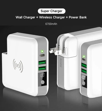 TGVi's 3in1 Super Series  (Wireless Charging + PowerBank + Wall Charger)