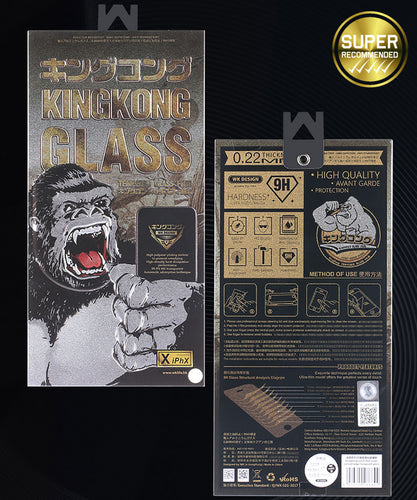 WK Design KingKong 3D Full Tempered Glass for iPhone (Case Friendly)