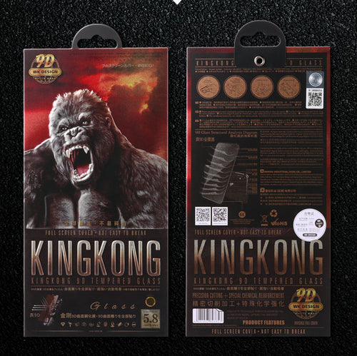 WK Design KingKong 9D Full Tempered Glass for iPhone