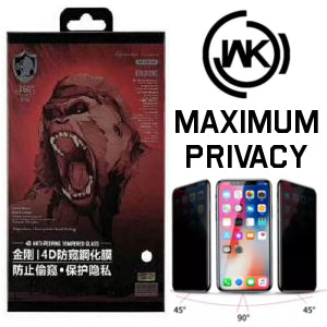 WK Design KingKong 4D Privacy Tempered Glass for iPhone