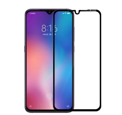 9H Full Coverage Clear Tempered Glass (Black Border) for Xiaomi Mi 9