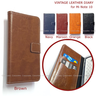 Vintage Leather Diary for Xiaomi Mi Note 10