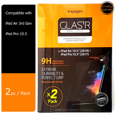 [2pc/pk] Spigen Glas.tR Slim Tempered Glass for iPad Air 10.5, iPad Pro 10.5