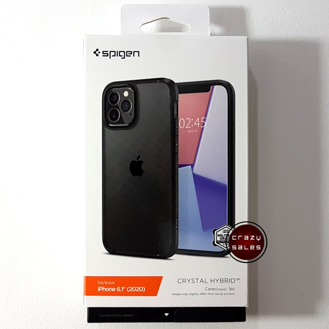 Spigen Crystal Hybrid Case BLACK for iPhone 12 / Pro