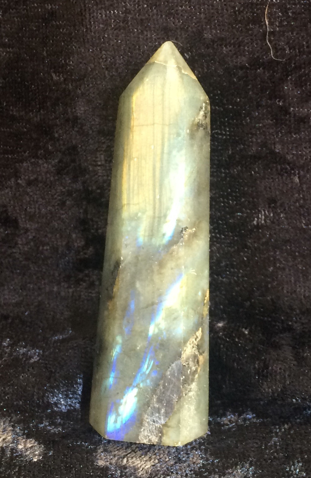 Labradorite Point, Labradorite, - Goddess Stone
