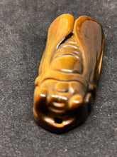Cicada Natural Tiger's Eye Stone Healing Bead Pendant Carvings, Carvings, - Goddess Stone