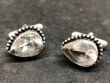 Cufflinks White Topaz Hand Made, Cufflinks, - Goddess Stone