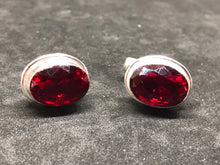 Cufflinks Mozambique Garnet Hand Made, Cufflinks, - Goddess Stone