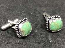 Cufflinks Green Chrysopharse Hand Made, Cufflinks, - Goddess Stone