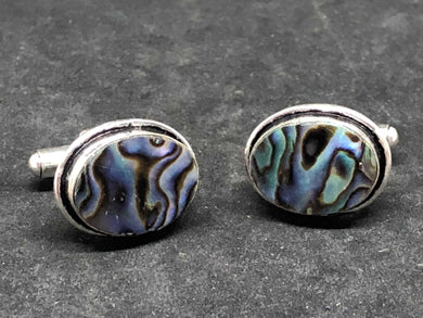 Cufflinks Abalone Shell Hand Made, Cufflinks, - Goddess Stone