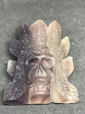 Amethyst Indian Skull Carving healing, Carvings, - Goddess Stone