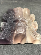 Amethyst Indian Skull Carving, Carvings, - Goddess Stone