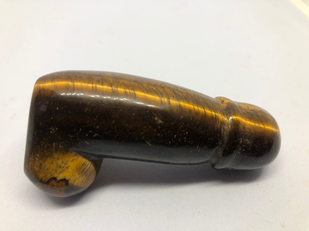 Tigers Eye Polished Stone Phallus