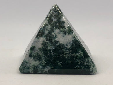 Green Moss Agate Triangle