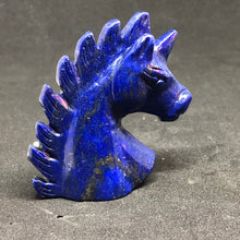 Lapis Lazuli Unicorn / Horse Carvings hand made, Lapis, - Goddess Stone