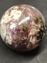 Rubellite Pink Tourmaline  Polished Sphere Ball, Rubellite, - Goddess Stone