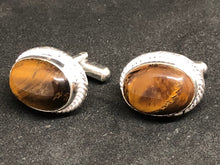 Cufflinks Tigers Eye Hand Made, Cufflinks, - Goddess Stone