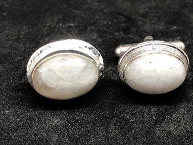 Cufflinks Moonstone Hand Made, Cufflinks, - Goddess Stone