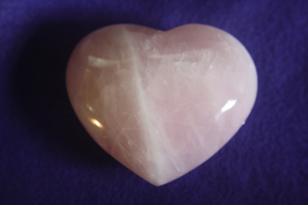 Rose Quartz Heart, rose quartz heart, - Goddess Stone