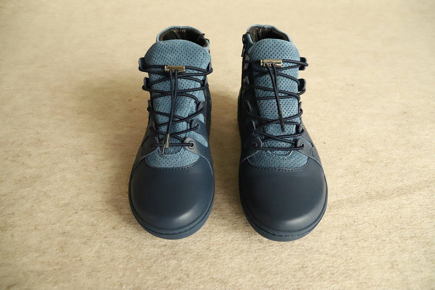 Pregnidos blue winter leather booties, wide fit jg2Oa