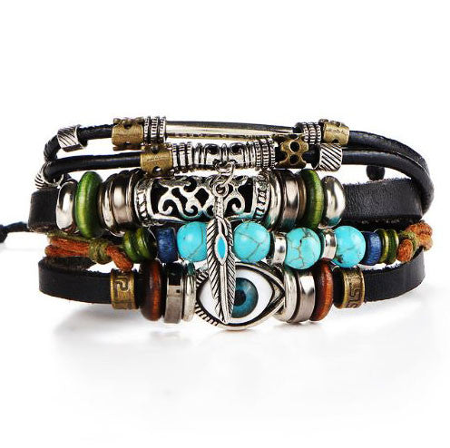 Punk-Design-Turkish-Evil-Eye-Bracelets-For-Women-Men-Wristband-Female-Owl-Leather-Bracelet-Ethnic