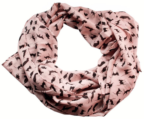 New-Fashion-Women-s-Chiffon-Colorful-Printed-Sweet-Cartoon-Cat-Kitten-Scarf-Graffiti-Style-Shawl-Girls