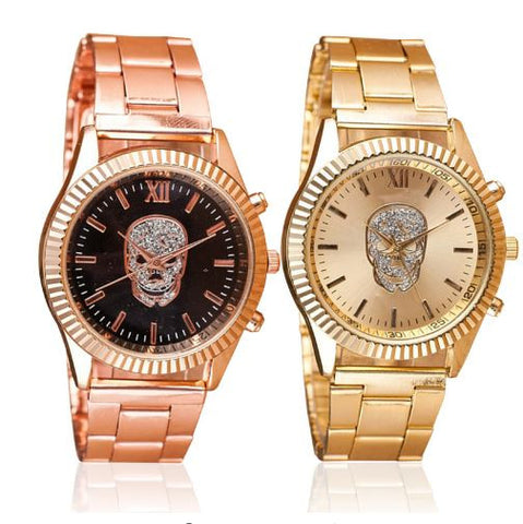 Image of Rose Gold Skull Watch