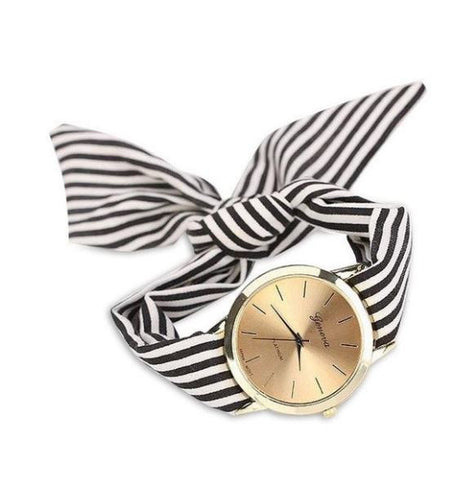 Image of Girls-Ladies-Women-s-Watches-Fashion-Casual-Stripe-Fabric-Bracelet-Watch-mightyhotdeals.com