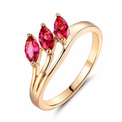 Gold Plated Ruby Ring
