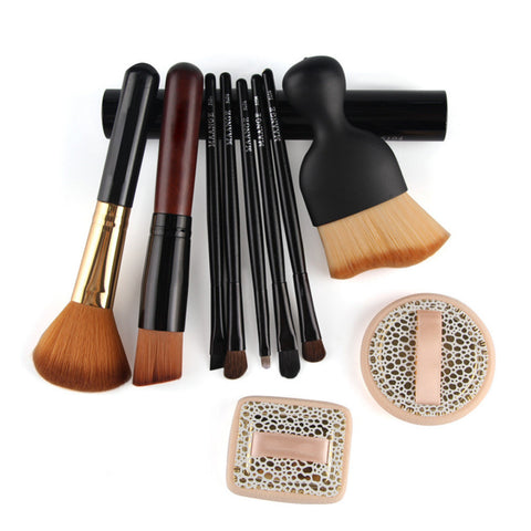 10pcs-Face-Makeup-Brush-Set-Foundation-Eyeshadow-Blush-Contour-Powder-Brush-Sponge-Air-Cushion-Puff-Kit