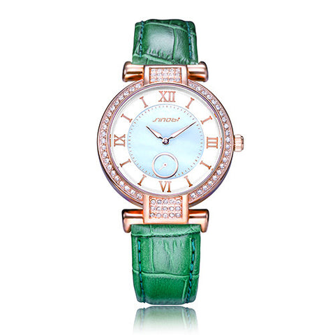 Image of New-Colorful-Diamond-Watch-Women-Golden-Dress-Geneva-Clock-Luxury-Brand-Leather-Strap-Lady