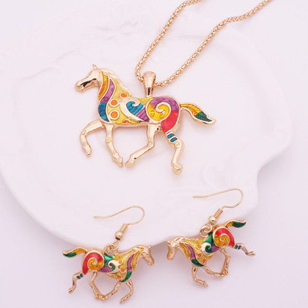 Image of Horse and Turtle Jewelry Set
