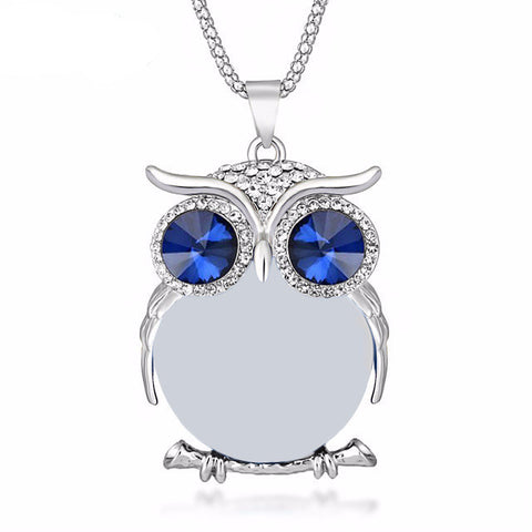 Image of Hooting Owl Necklace [8 Colors]