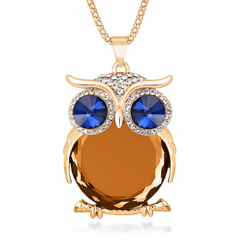 Hooting Owl Necklace [8 Colors]