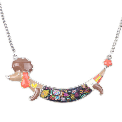 Poodle Choker Necklace [ 6 Colors]