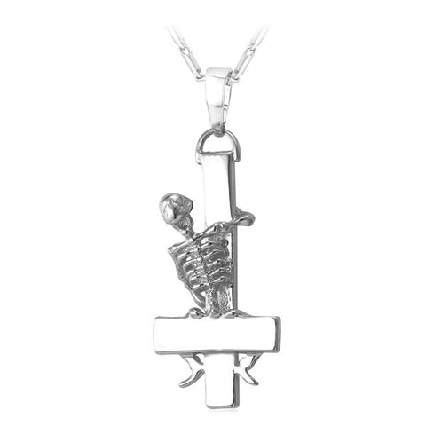 St. Peter Cross Skull Necklace