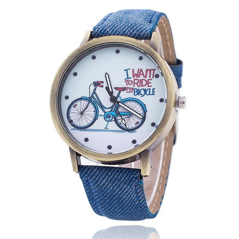Denim Bicycle Watches [7 Colors]