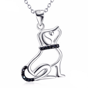Sterling Silver Tiny Dog Pendant