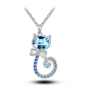 classic-fashion-creative-gifts-crystal-kitty-Necklace-cute-cat-suit-girls-jewelry-accessories-wedding