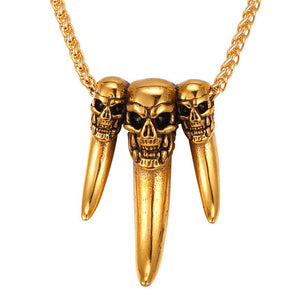 Gothic Skeleton Teeth Necklace