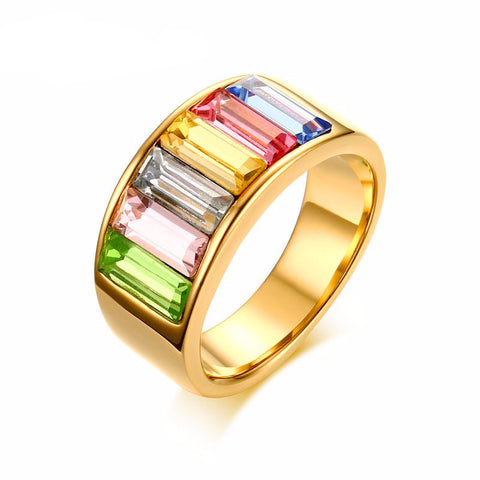 Rainbow Gems Ring